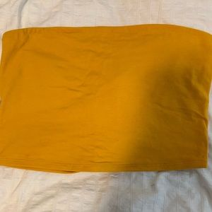 yellow garage tube top